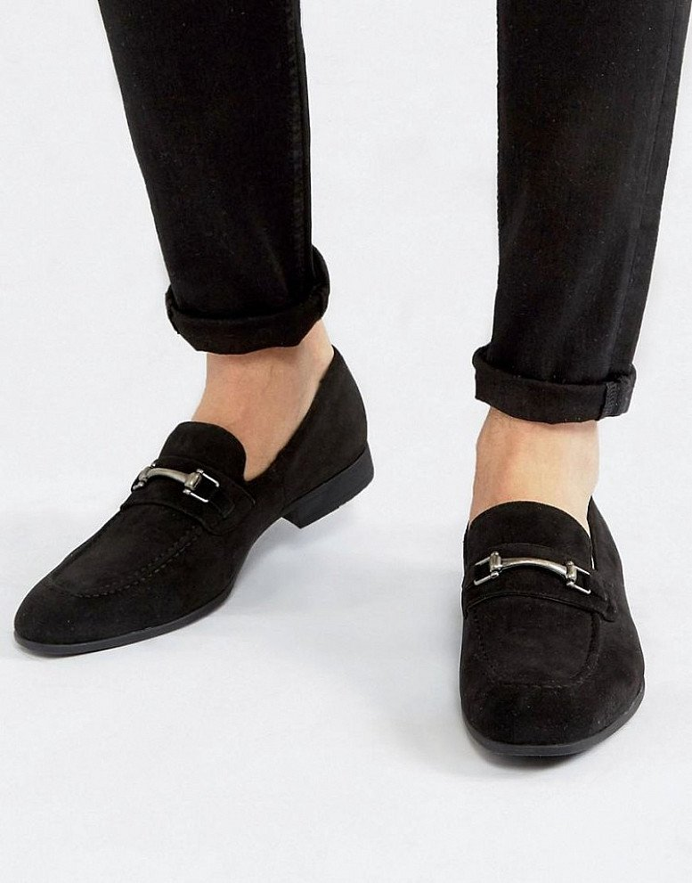 50% off Footwear - Inc. these FAUX SUEDE METAL SNAFFLE LOAFER