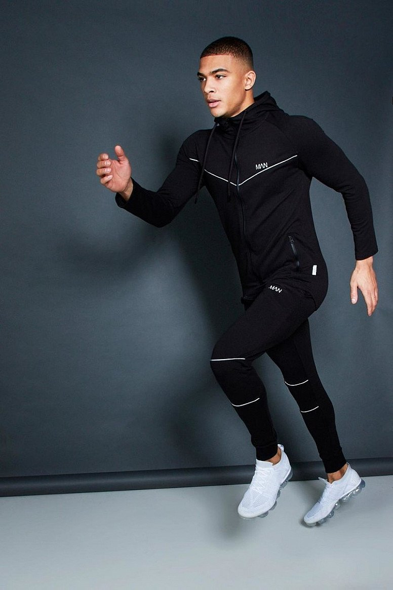 30% OFF SPORTS WEAR - ACTIVE ZIP THROUGH HOODED SKINNY TRACKSUIT