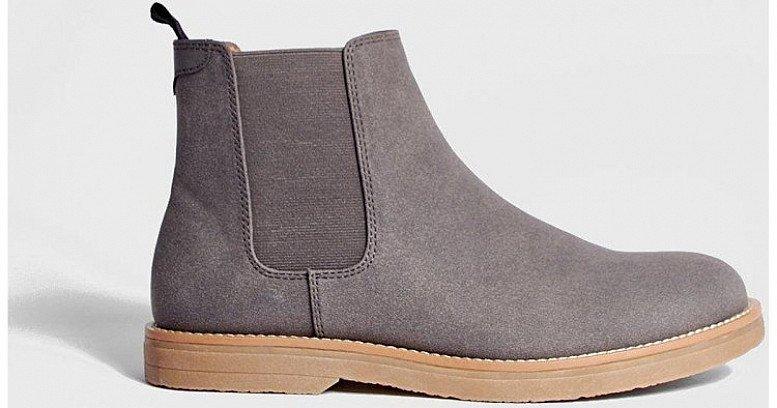50% off Footwear - HEAVY SOLE FAUX LEATHER CHELSEA BOOT