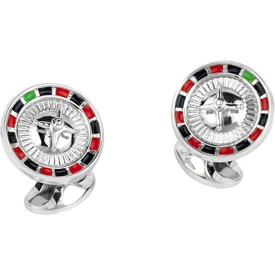 10% off Deakin & Francis Jewellery - Deakin & Francis Sterling Silver Roulette Wheel Cufflinks