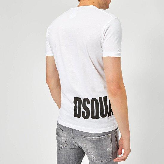 Extra 15% of Selected Outlet - Dsquared2 Men's Hem Logo T-Shirt - White