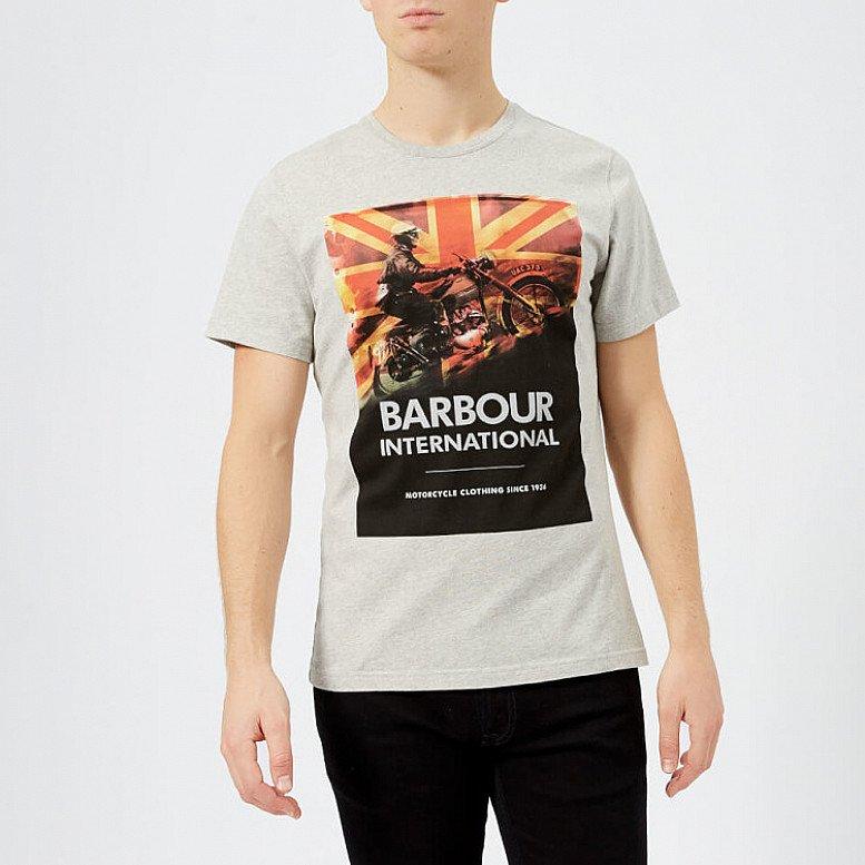 SALE - Barbour International Men's Climb T-Shirt - Grey Marl