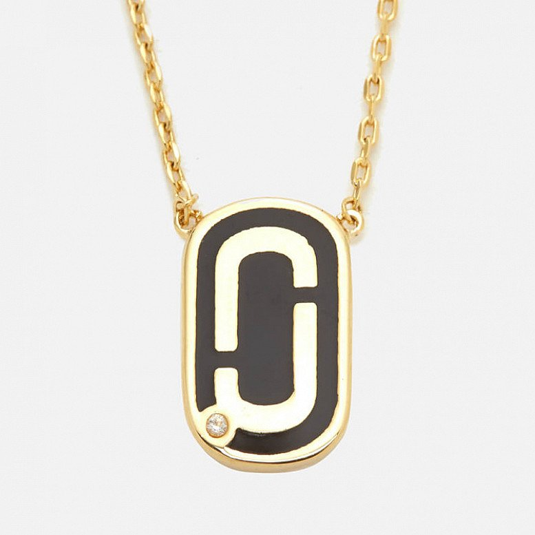 SALE - Marc Jacobs Women's Icon Enamel Pendant - Black/Gold