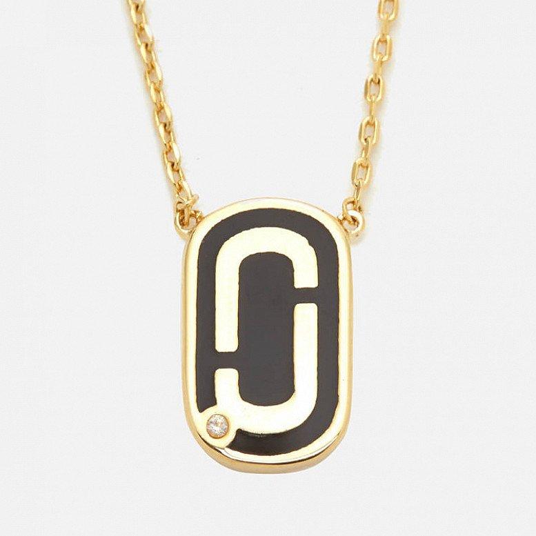 SALE - Marc Jacobs Women's Icon Enamel Pendant - Black/Gold