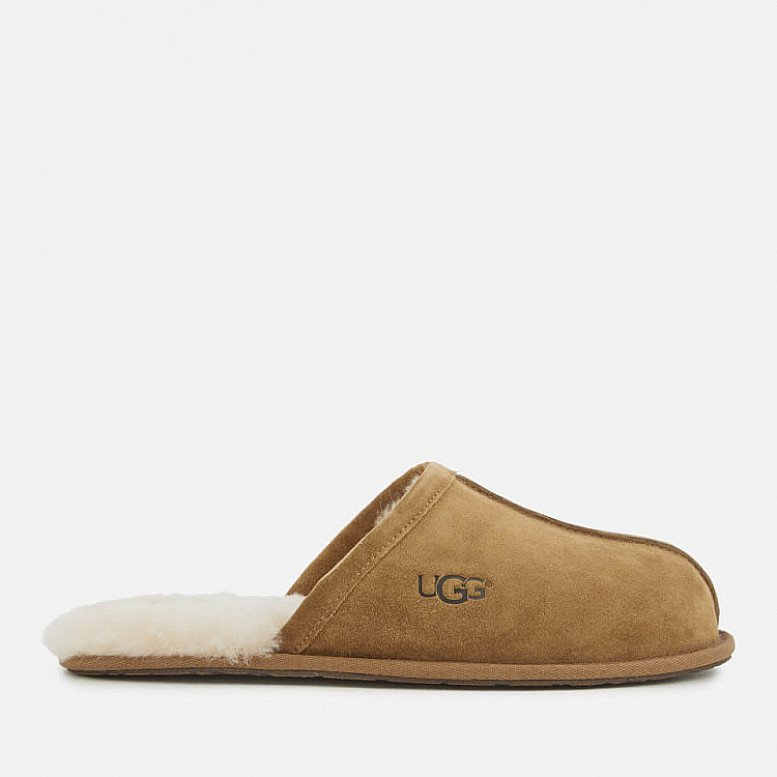 OUTLET SALE - UGG Men's Scuff Suede Slippers - Chestnut