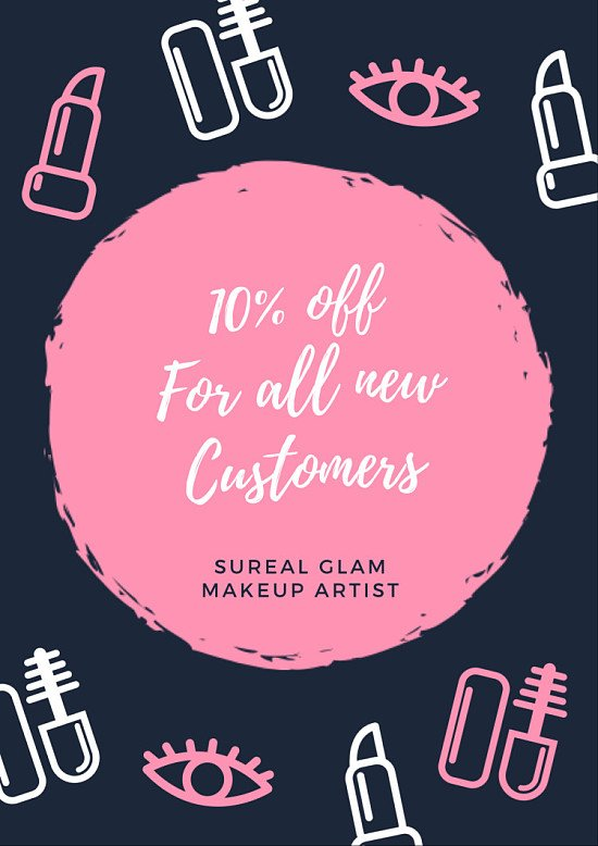 10% Off all services at SuReal Glam makeup artist