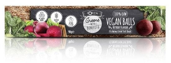 Healthy snacks full of delicious flavour! Vegan Balls from FORZA! 6 x 40g Beetroot Flavour. SAVE 33%