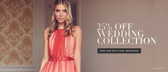 25% off Wedding Collection