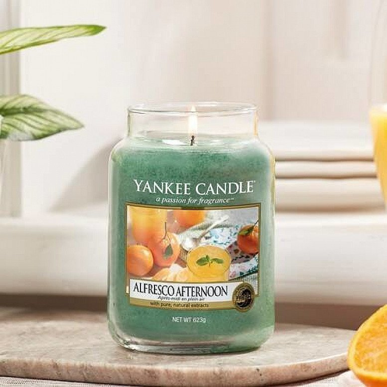 SALE ON YANKEE CANDLES - YANKEE CANDLE ALFRESCO AFTERNOON LARGE JAR