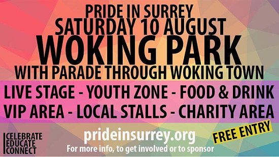 Win 2x VIP Tickets to Pride in Surrey