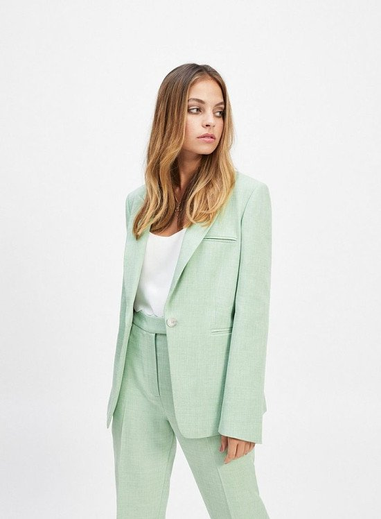 Up to 60% off sale - PETITE Green Open Weave Blazer