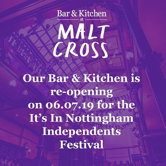 We're so excited to share we'll be opening on 6th July for It's In Nottingham Independents Festival!