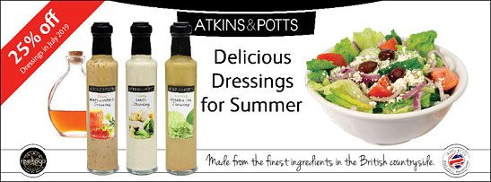25% Off Atkins & Potts Dressings