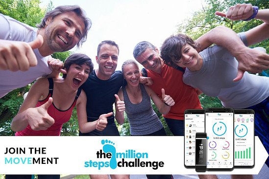 Win one of 25 FREE Places + Reserve £19.99 Launch Package for National Million Steps Challenge