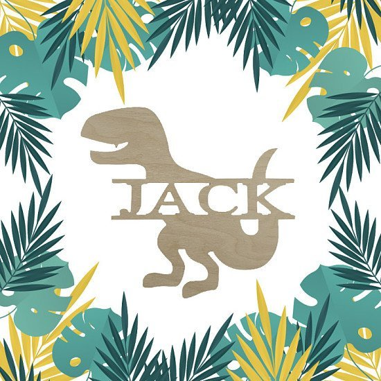 SAVE 50% - Dinosaur personalised name signs made from wood