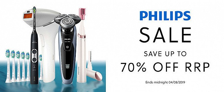 Take it easy this Summer with up to 70% off RRP in the Philips Sale!