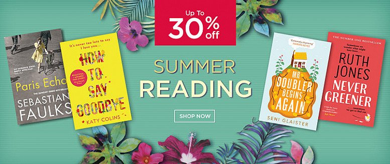 Up to 30% off Summer Reading!