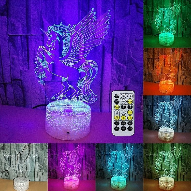3D LED UNICORN LAMP
