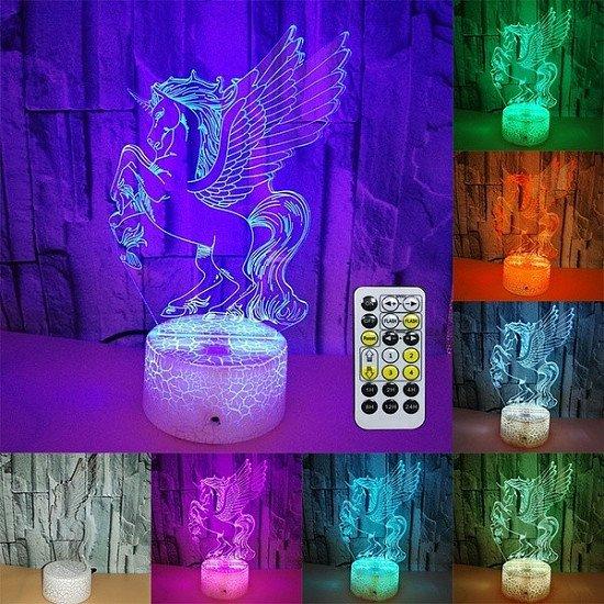 3D LED UNICORN LAMP