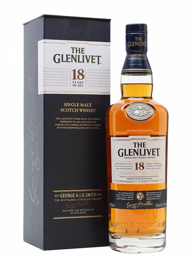 Get 2 Free Glasses when you buy Glenlivet 18 year old - only £91.89