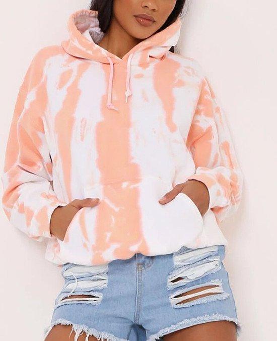 75% off everything - Orange Tie Dye Oversized Hoodie!