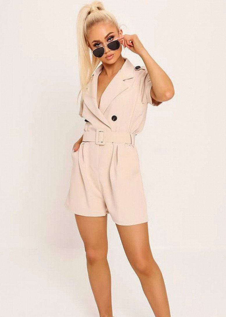 75% off everything - Stone Belted Utility Playsuit