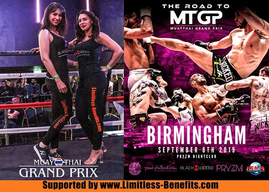 Win 2 tickets to Muay Thai Grand Prix Pryzm Birmingham supported by Limitless Benefits Ring Girls