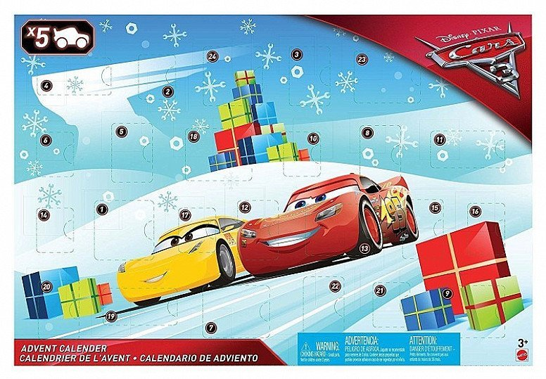 DISNEY PIXAR CARS CHRISTMAS ADVENT CALENDER
