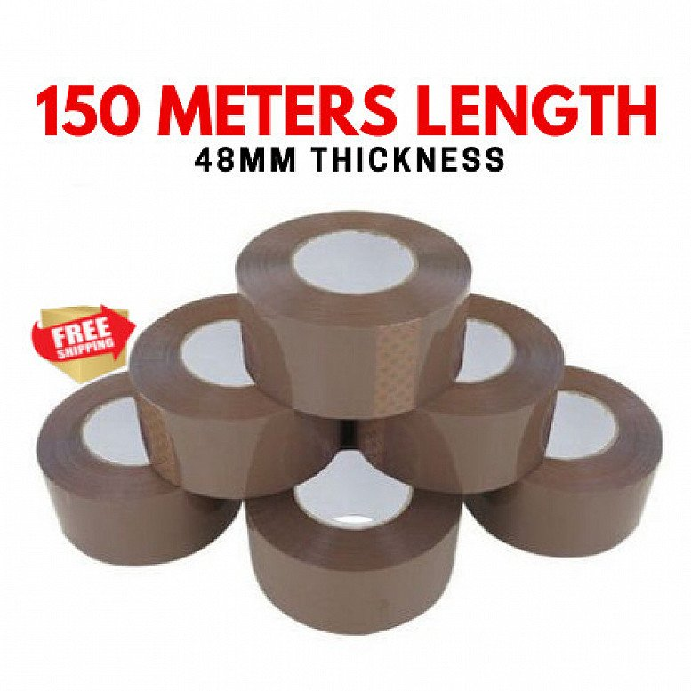 EXTRA STRONG BIG TAPE PARCEL PACKING TAPE 48MM X150M BROWN /BUFF LARGE