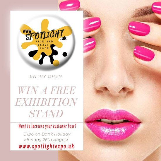 WIN FREE EXHIBITION STAND AT HAIR AND BEAUTY EXPO THIS BANK HOLIDAY
