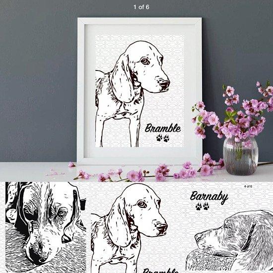 £10 Personalised pet portraits-FREE POST