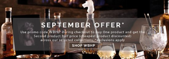 September Offer - Buy One Get One Half Price