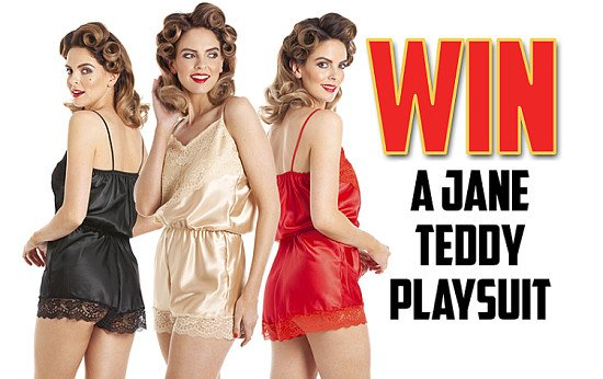 Win a Jane Lace Teddy Playsuit