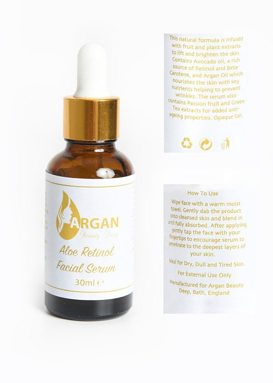 Retinol 2.5% Facial Serum 30ml with Hyaluronic Acid & Vitamin E For Wrinkles & fine Lines