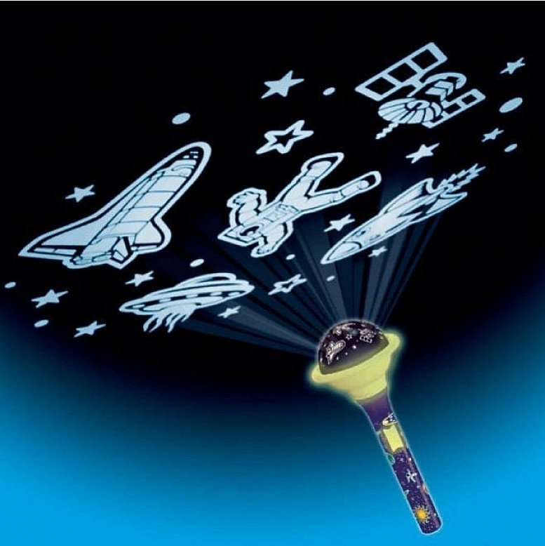 Sale - Starlight Projector Torch - It will shed starlight onto walls and ceilings!