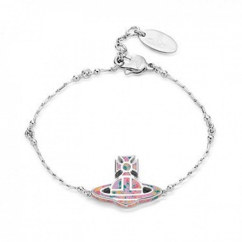 SALE on Vivienne Westwood Silver + Pink Celeste Bracelet!
