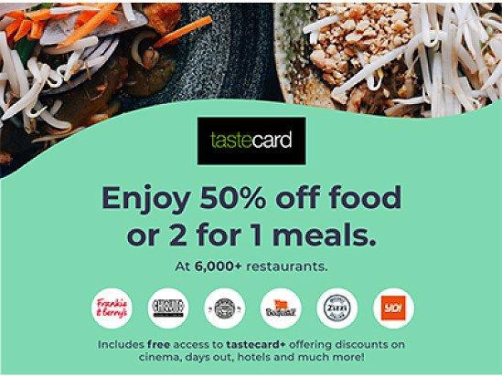 Get 2 for 1 meals at over 6,000 restaurants