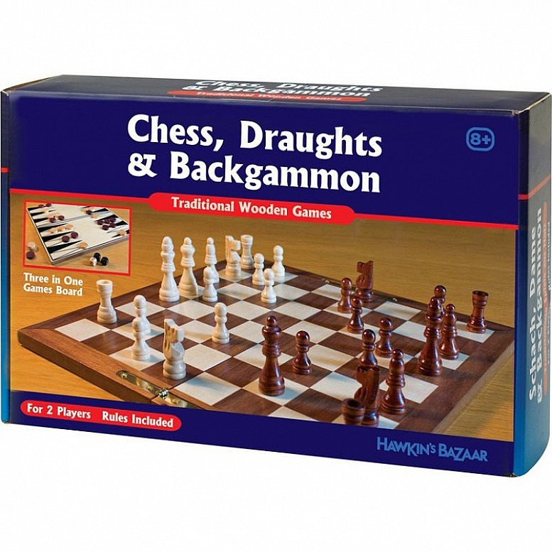 Save Big on a 3 in 1 Classic Wooden Games! RRP £20, Now Only £4.99!