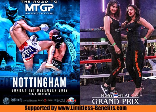 Win 2 tickets to Muay Thai Grand Prix Pryzm Nottingham supported by Limitless Benefits Ring Girls