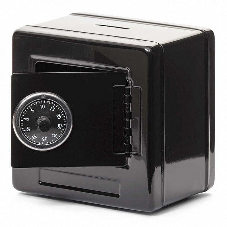 Metal Money Bank in Black - Use your own combination to keep your valuables safe - Only £14!