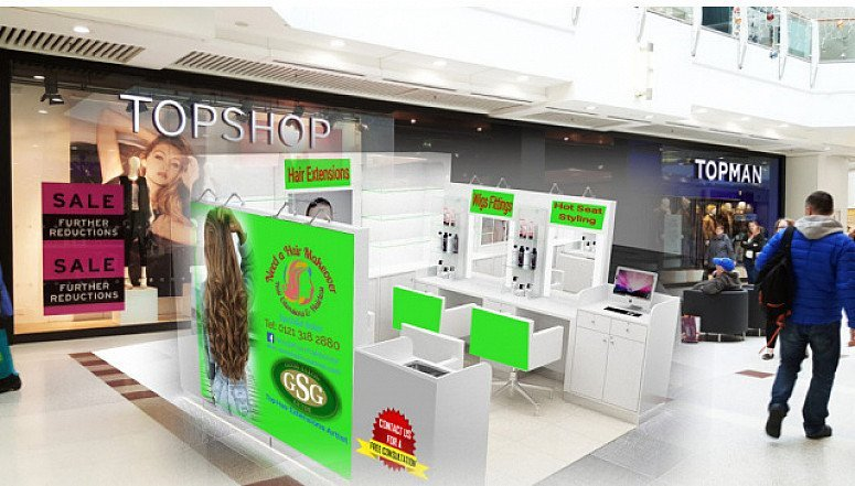Start your own Hair Extensions Business in busy Shopping Mall