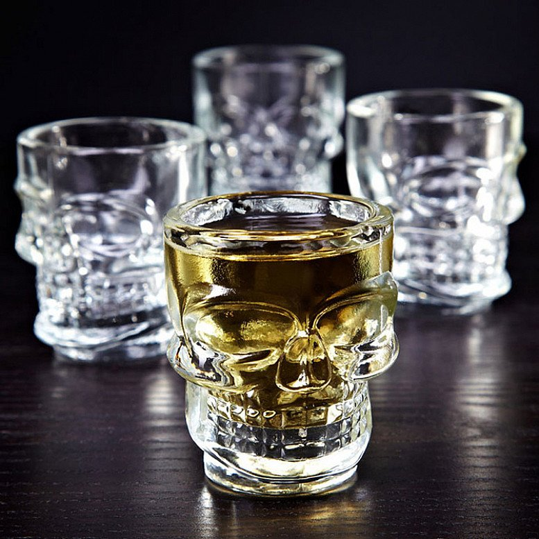 Skull Shot Glasses - Set of Four - Only £10!
