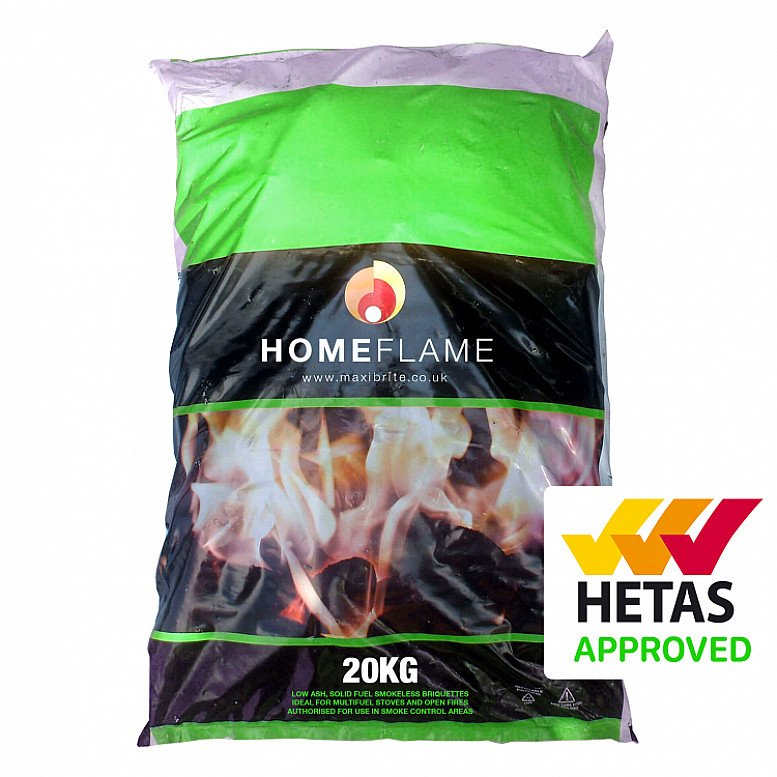 10% OFF HOMEFLAME smokeless fuel - 1 tonne pallet - use code: SNIZL10