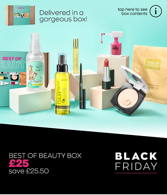 AVON Black Friday Offer - Best Of Beauty Box (Worth £50.50) For only £25.00 (saving £25.50)