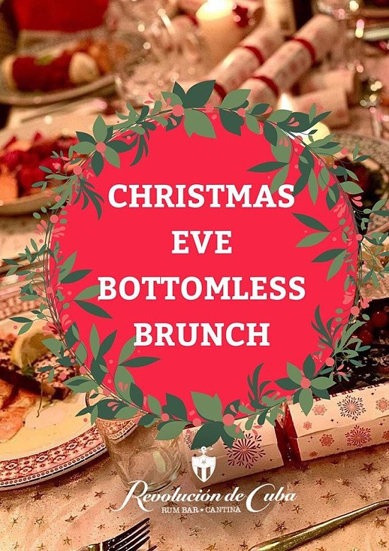 Limited slots available for our Christmas Eve bottomless brunch!