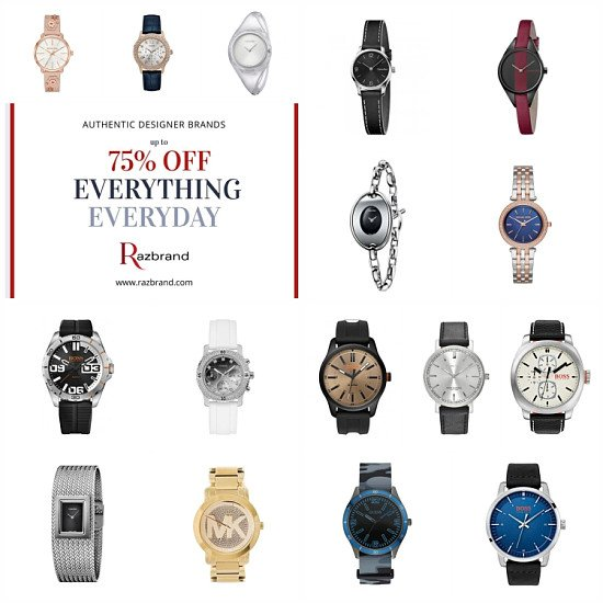 Up to 75% off designer watches!