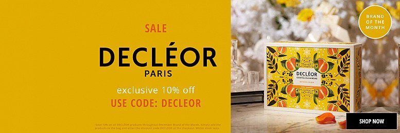 10% Off DECLÉOR Bath & Body, Gifts, Skincare and aromessence!
