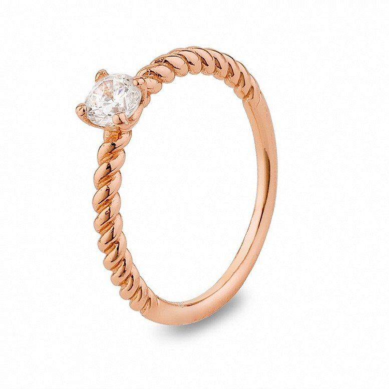 Up to 60% Off on selected ARGENTO - ROSE GOLD CRYSTAL STACKING RING