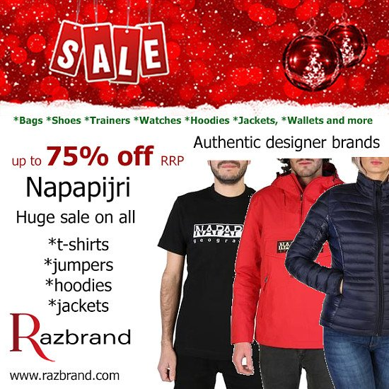 Up to 75% off Napapijri collection