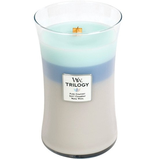 WoodWick Candle Sale - WOODWICK WOVEN COMFORTS TRILOGY LARGE JAR CANDLE
